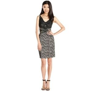 Wow Couture Tiger Animal Print Lace Bodycon Dress